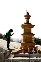 Stone tower in Hakdoam Temple, Mount Bulam, Seoul, Korea