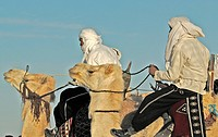 Tunisia, Douz oasis area, berber camel drivers