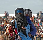 Tunisia, Douz oasis area, berber rider
