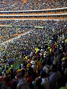 Soccer City Johannesburg, Johannesburg, South Africa, Populous, SOCCER CITY STADIUM POPULOUS ARCHITECTS JOHANNESBURG SOUTH AFRICA 2010 CROWD SHOT DURI...