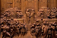 ITALY, FLORENCE, CATHEDRAL OF SANTA MARIA DEL FIORE DUOMO, BAPTISTERY, GATE OF PARADISE, SOLOMON
