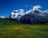 Murren, Eiger, Monch, Jungfrau, Bern, Switzerland