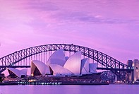 AUSTRALIA NEW SOUTH WALES. SYDNEY OPERA HOUSE AND HARBOUR BRIDGE.