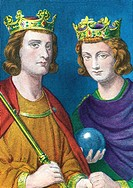 Brothers and kings of France Louis III 863-882 and CARLOMAN 866-884