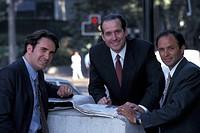 Portrait of three businessmen