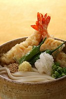 Close up of Tempura udon