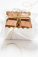 Chocolate squares to give as a gift Christmas