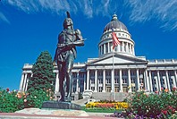 Massassoit statue at State Capitol Building Salt Lake City Utah