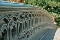Bow Bridge railing detail. Central Park. Manhattan, New York, New York. USA.