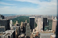 View of Central Park and North Manhattan from Top of the Rock, New York, New York. USA.