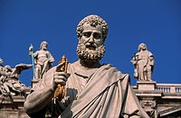 Italy, Lazio, Rome, The Vatican, the balcony with statues