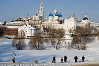 Russia, Sergiev Posad, Trinity St.Sergius Monastery and Laura cathedral