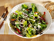 Mixed Green Salad with Ranch Dressing