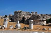 Greece, Dodecanese, Kos, ruins