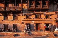 Nepal, Bhaktapur, street view