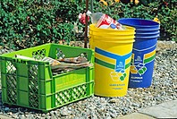 residential recycle containers