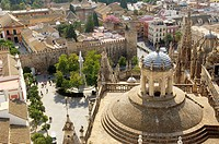 Plaza del Triunfo, cathedral, Sevilla, Andalucia, Spain