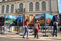 Art exhibition, Palau Robert, Barcelona, Catalonia, Spain.