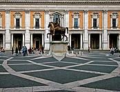 Lazio, Rome. Campidoglio, Marcus Aurelius statue
