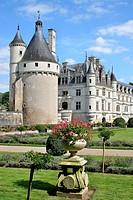 France, Centre, Chenonceaux, Chenonceau castle