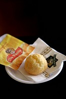 Brazil. Traditional Food. A delicious Cheese Bread Roll, Pao de Queijo