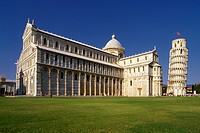 Italy, Tuscany, Pisa. The Cathedral and The Leaning Tower.