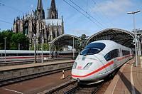 ICE 3 Train at Cologne main Station