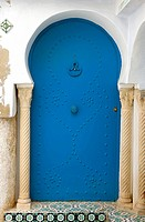 Africa, Tunisia. Hammamet, typical door