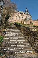 Landgrafenschloss castle, university museum of cultural history, Marburg, Hesse, Germany