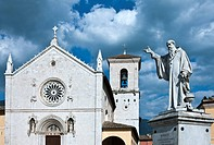 Italy, Umbria, Norcia, San Benedetto Basilica and Monument