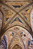 Italy, Tuscany, Siena, Interior of the Duomo, ceiling of the baptistery