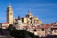 Spain, Castilla y Leon, Segovia, the cathedral