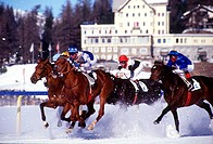 Ski joring in Saint Moritz, Switzerland