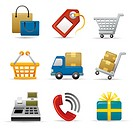 Shopping Icon set (thumbnail)