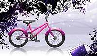 Bicycle with flora design