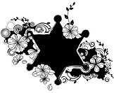 Star shape with flora design (thumbnail)