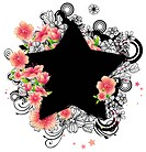 Star shape with flora design