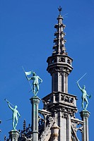 Belgium, Flanders, Brussels, Grand Place, Architecture Detail