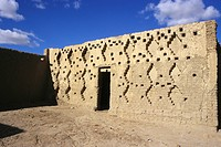 Africa, Mali, typical sudanese_style building
