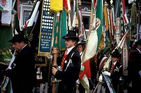 Italy, Trentino Alto Adige, Schutzen parade
