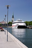 Nordic Jetline Boat in the Harbour in Tallinn