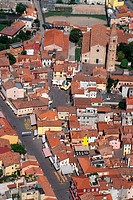Italy, Veneto, Caorle, aerial view