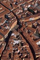 Italy, Emilia Romagna, Piacenza aerial view