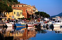 Tuscany, Elba Island, porto azzurro. Tha harbour