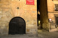 street at night, Salamanca, Castilla-Leon, Spain