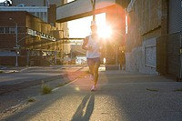 Runner and sunlight