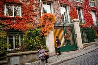 Paris, France, Street Scene, People Visiting Montmartre District