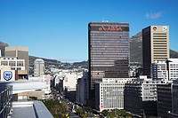 Skyscrapers on Adderley Street, City Bowl, Cape Town, Western Cape, South Africa