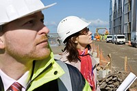 Contractors at construction site