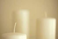 Detail set of white candles